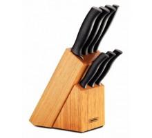 Набор Tramontina ATHUS черный ножей на деревянной подставке, 7 предметов