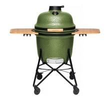 Большой керамический гриль-печь, зеленый 2415701