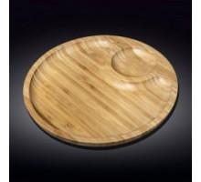 Блюдо круглое 2 секции 35,5см Wilmax Bamboo WL-771045