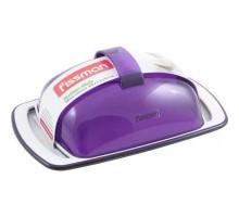 Масленка (пластик фиолет.) FISSMAN (ФС7408)