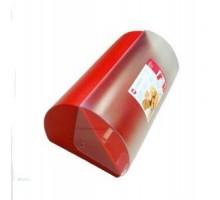 Прозрачная хлебница Emsa SUPERLINE красная.