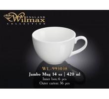 Кружка джамбо Wilmax  420 мл