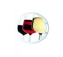 Круглый поднос CLASSIC Wine glasses