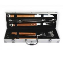 FISSMAN 1017 Набор инструментов для барбекю 10 предметов с чемоданом