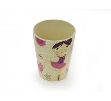 Детский стакан ДЕВОЧКА-БАЛЕРИНА (Бамбуковое волокно) Fissman 300 мл AY-8818.300