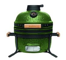 Средний керамический гриль-печь, зеленый